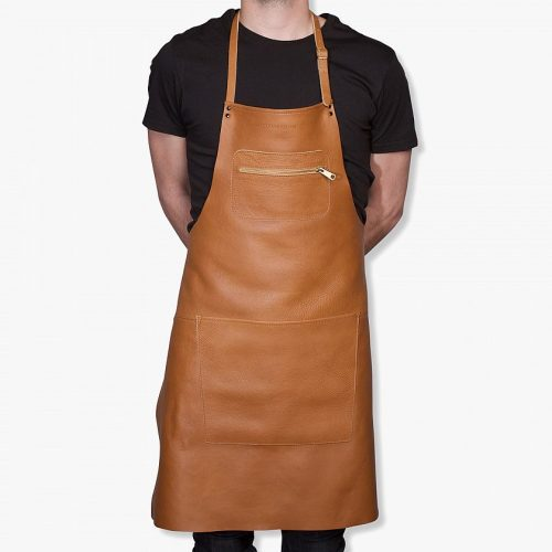 Zipper-style-aprons-–-Classic-leather-Light-brown-01