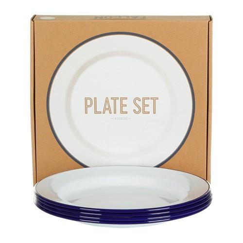 plate-set-set-of-4-original-blue-rim-115755